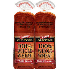 Schmidt Old Tyme 100% Whole Wheat Bread (16 oz. loaf, 2 ct.)