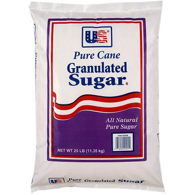 U.S. Pure Cane Granulated Sugar - 25 lbs.