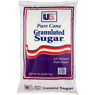 U.S. Pure Cane Granulated Sugar - 50 lbs.
