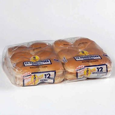 Evangeline Maid Hamburger Buns - 2/ 12 ct.