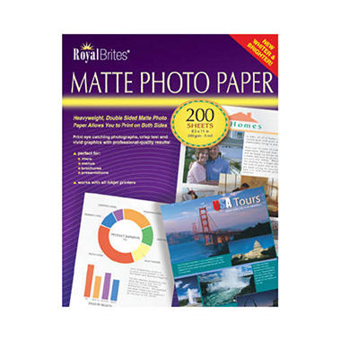 Royal Brites® Matte Photo Paper - 200 ct.