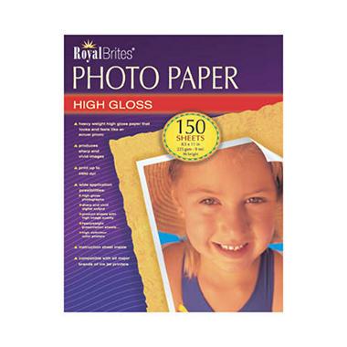 Royal Brites® High Gloss Photo Paper - 150 ct.
