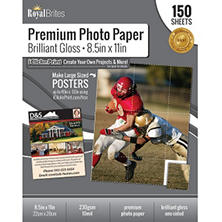 "Royal Brites Glossy Photo Paper 8.5"" x11"" (150 ct.)"