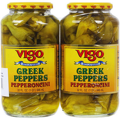 Vigo Greek Peppers Pepperoncini - 32 oz. jars - 2 pk.