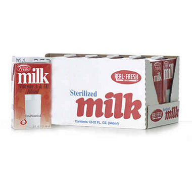 Real-Fresh Sterilized Milk - 12/32 oz.