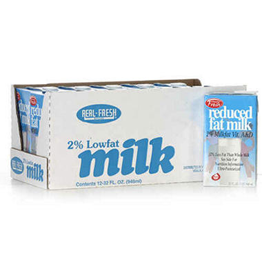 Real Fresh 2% Lowfat Milk 32 oz. - 12 ct.