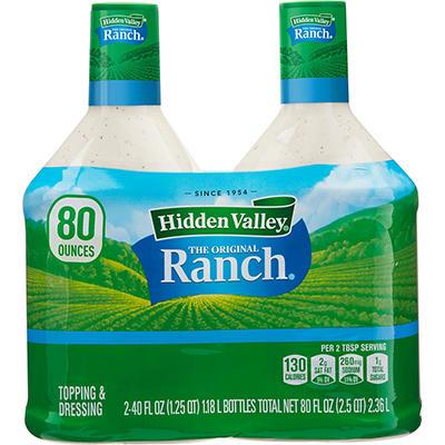 Hidden Valley Ranch - 40 oz. btls. - 2 ct.