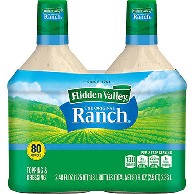 Hidden Valley Ranch Dressing (40 oz. bottle, 2 ct.)