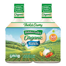 Hidden Valley Original Ranch Organic Dressing (2 pk., 40 fl. oz. Bottles)