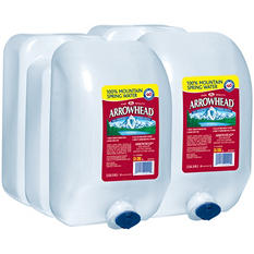 Arrowhead 100% Mountain Spring Water (2.5 gal. jugs, 2 pk.)