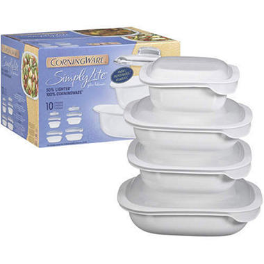 CorningWare® Simply Lite™ Glass Bakeware - 10pc