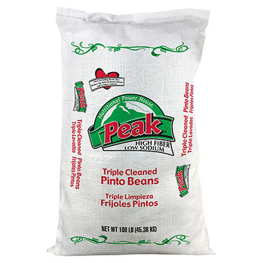 Peak® Pinto Beans - 100 lb. poly bag