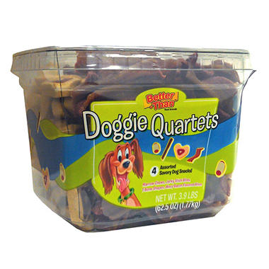 Doggie Quartets Assorted Dog Treats - 3.9 lbs.
