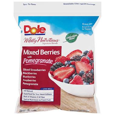 Dole Mixed Berries W Pomegranate 48 Oz Sam S Club