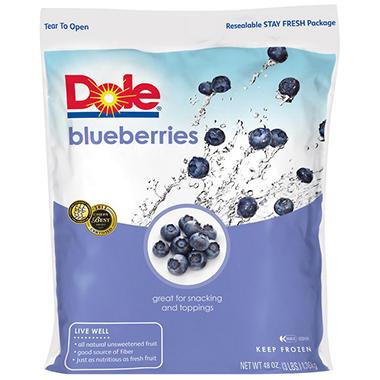 Dole Frozen Blueberries - 3 lbs.