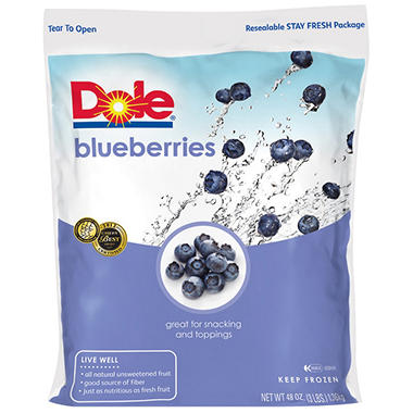 Dole Frozen Blueberries - 3 lbs.