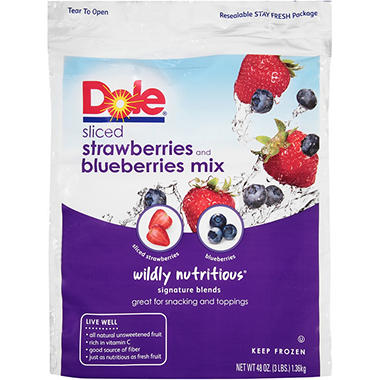 Dole Frozen Strawberry Blueberry Blend - 3 lbs.