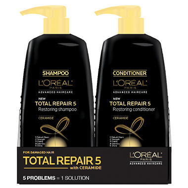 L'oreal Total Repair 5 Restoring Shampoo and Conditioner (33.8 fl. oz., 2 pk.)