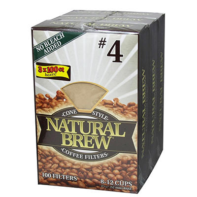 Natural Brew® Coffee Filters - 3 pk. - 100 ct. each
