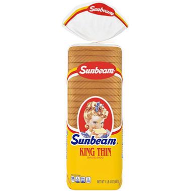 Sunbeam King Thin Enriched Bread - 20 oz. - 2 pk.