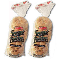Schwebel's Sesame Twisters Buns - 6 ct. - 2 pks.