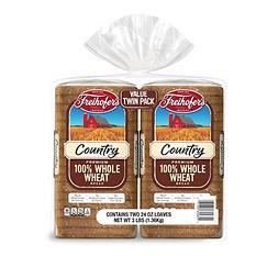 Freihofer's 100% Whole Wheat Bread (48 oz., 2 pk.)