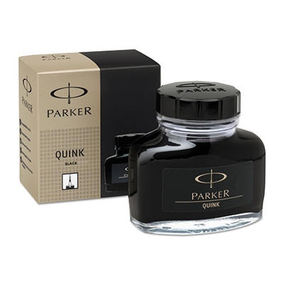 Parker Super Quink Permanent Ink for Parker Pens, 2 oz Bottle - Black