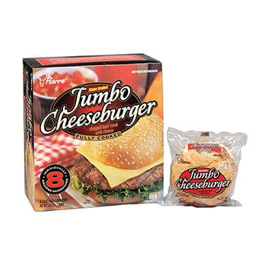 Pierre™ Jumbo Cheeseburger - 8/7.0 oz.