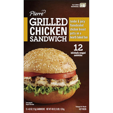Pierre? Grilled Chicken Sandwich - 12 ct.