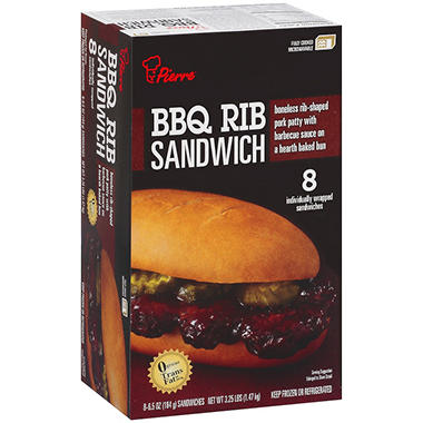 Pierre? BBQ Rib Sandwich - 8 ct.