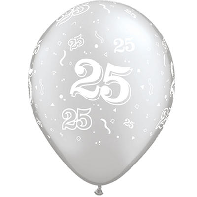 "11"" Latex Round Balloon - Silver - 50ct"