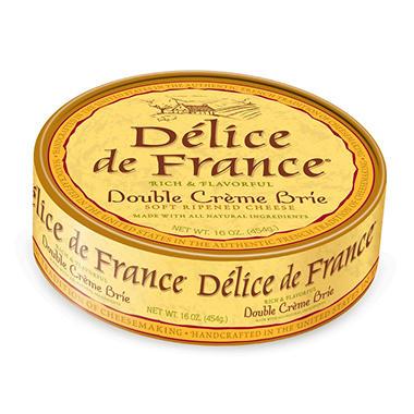 Delice de France Double Creme Brie (16 oz.)