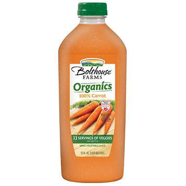 Bolthouse Farms Organic Carrot Juice - 52 oz.