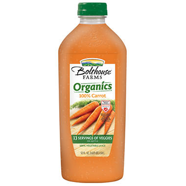 Bolthouse Farms Organic Carrot Juice - 52 oz.