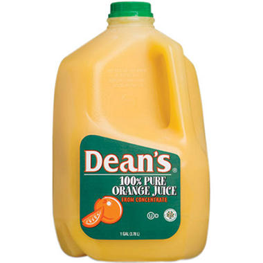 Dean's® 100% Pure Orange Juice Pasteurized from Concentrate - 1 gal.