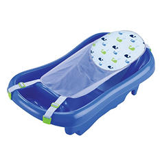 TOMY Sure Comfort Deluxe Newborn to Toddler Tub, Blue