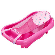 Tomy Comfort Deluxe Newborn to Toddler Tub, Pink