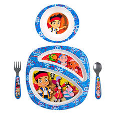 TOMY Disney Junior Jake and the Never Land Pirates Feeding Set (4 pc. set)