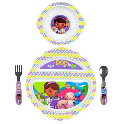 TOMY Disney Junior Doc McStuffins Feeding Set (4 pc. set)