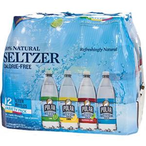 Polar Seltzer Variety Pack - 1L bottles - 12 pk.