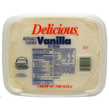 Delicious® Vanilla Ice Cream Pail - 4.5 qt.