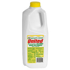 United Dairy Whole Buttermilk  (half gal.)