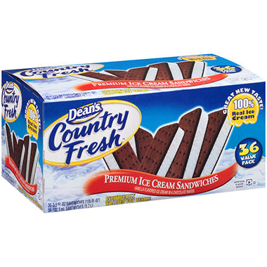 Dean's® Country Fresh™ Ice Cream Sandwiches - 3.5 fl. oz. - 36 ct.