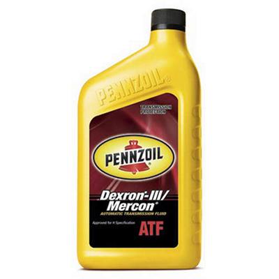 Pennzoil Auto Transmission Fluid Dexron-III/Mercon - 1 Quart Bottles - 12 Pack
