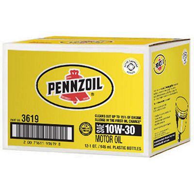 Pennzoil 10W-30 Motor Oil - 1 Quart Bottles - 12 Pack