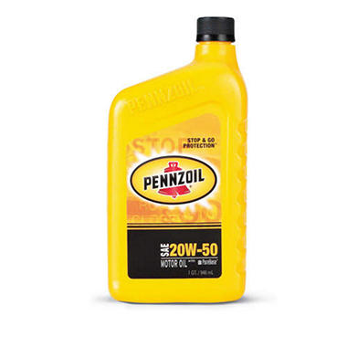 Pennzoil 20w50 Motor Oil 1 Quart Bottles 12 Pack Sam