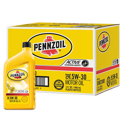 Pennzoil 5W-30 Motor Oil - 1 Quart Bottles - 12 Pack