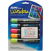 EXPO Neon Dry Erase Markers, Assorted Colors (Bullet Tip, 5 ct.)