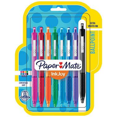 Paper Mate - InkJoy 300RT Ballpoint Pen, Assorted Ink, Medium - 8 Pens