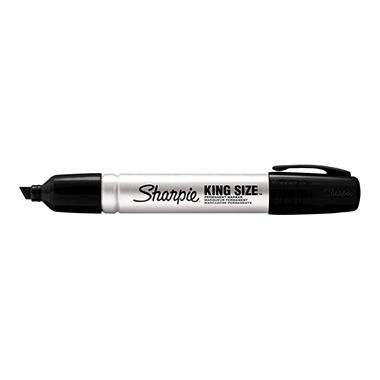 Sharpie - King Size Permanent Marker - Chisel Tip - Black - 12 Count